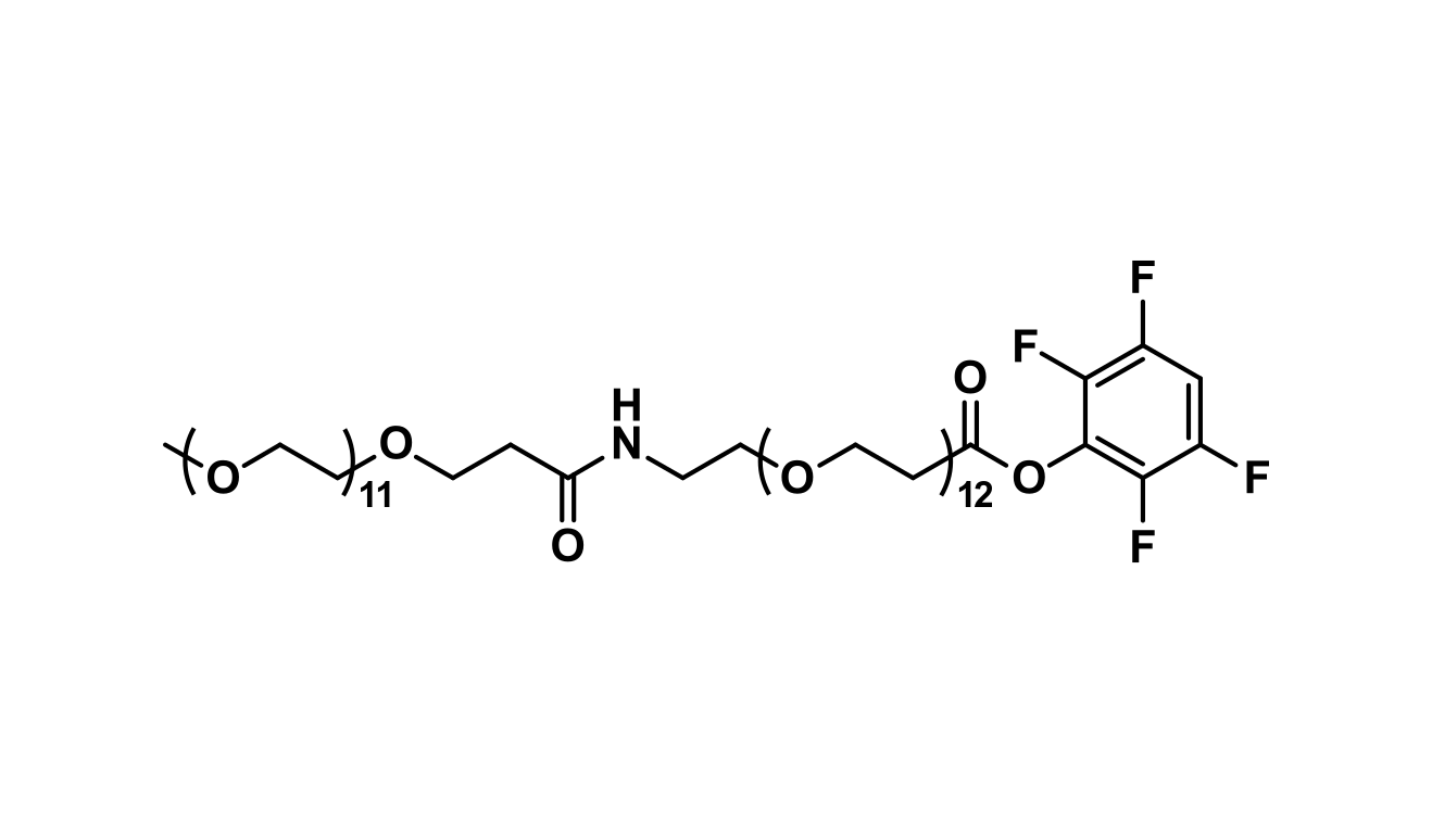 m-dPEG®₁₂-amido-dPEG®₁₂-TFP ester