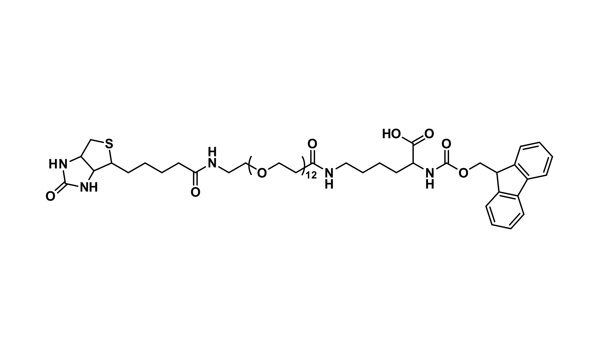 Fmoc-N-Lys-(dPEG®₁₂-biotin)-OH-(acid)