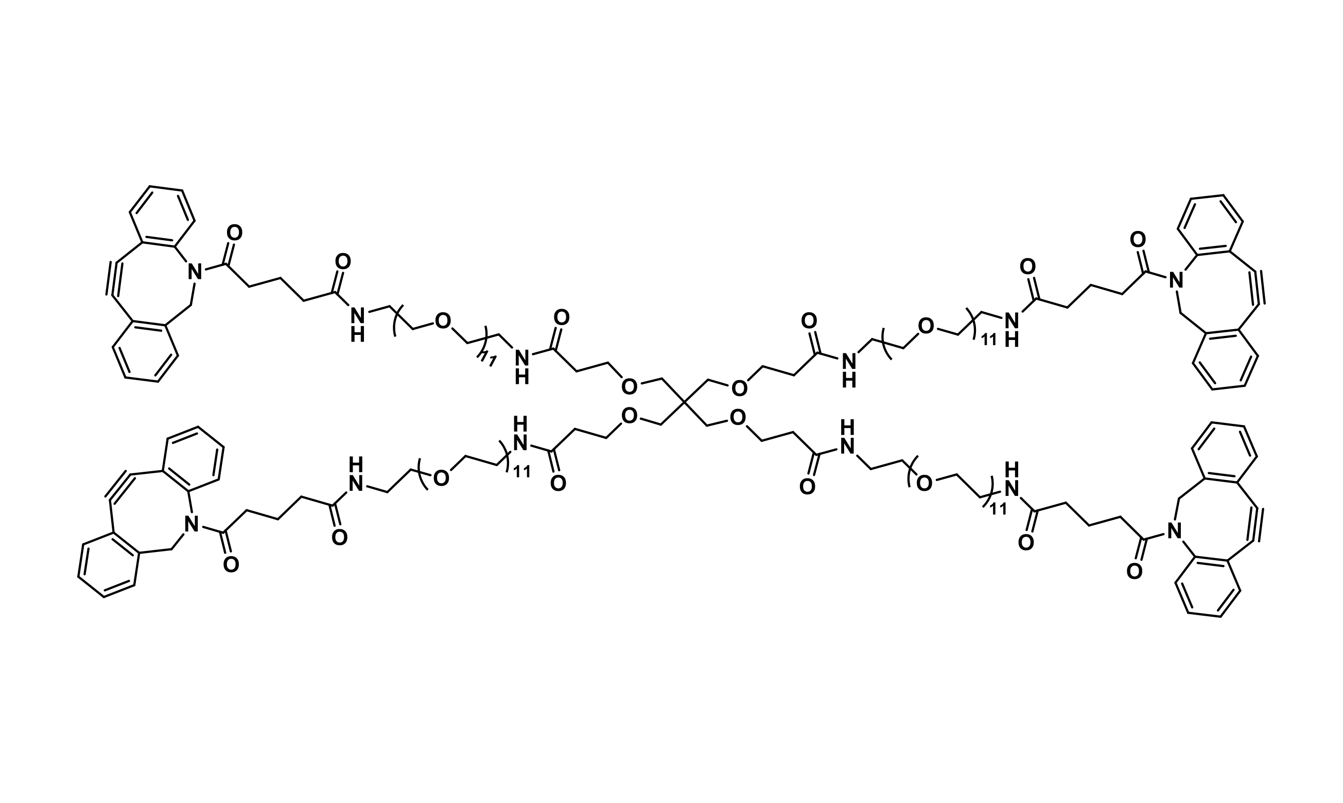 Tetra(-dPEG®₁₁-DBCO)pentaerythritol