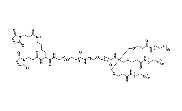Bis-MAL-Lysine-dPEG®₄-dPEG®₁₂-Tris(m-dPEG®₂₄)₃