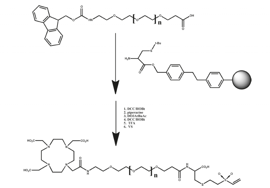 Figure 1: Synthetic Scheme for the dPEG® DOTA derivatives used to modify diabodies.