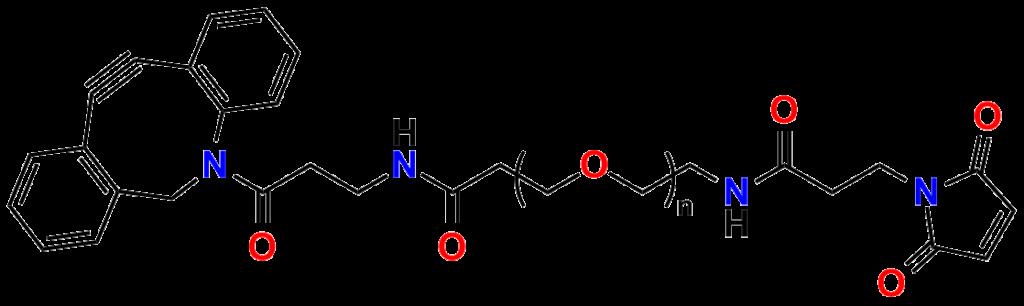 Figure 24: DBCO-dPEG®n-MAL click chemistry crosslinkers