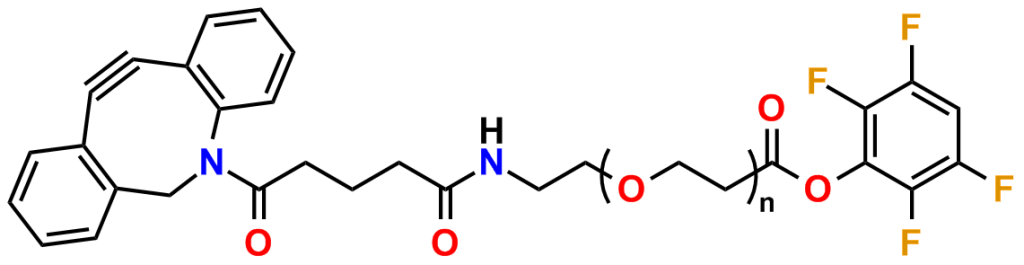 Figure 25: DBCO-dPEG®n-TFP esters for crosslinking amines and azides.