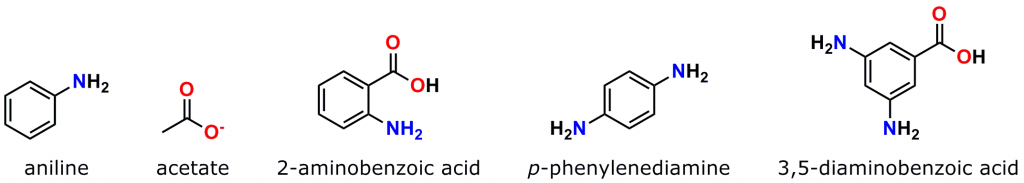 Figure 5: Selected catalysts for the formation of hydrazone and oxime bonds. See the discussion below and the references cited for details.