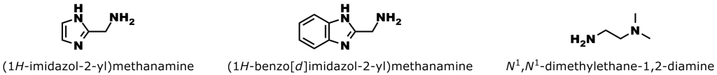 Figure 6: Three low toxicity amine buffers that effectively catalyze hydrazone and oxime bond formation. Details of the buffers and the study are in reference 24, below.