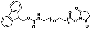 Figure 8: Product number 10995, Fmoc-N-amido-dPEG®8-NHS ester, used by Halperin, et al., to modify Amphotericin B.