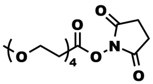 Figure 7: Product number 10211, m-dPEG®4-NHS ester, used by Tan, et al., to modify the antifungal drug Amphotericin B.