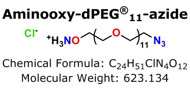 Aminooxy-dPEG®11-azide: A New Click Chemistry Crosslinker