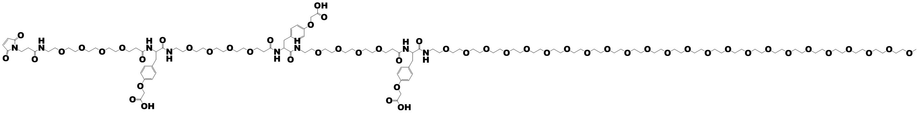 PN11567; MAL-(NH-dPEG4-Tyr(CH2-CO2H))3-NH-m-dPEG24