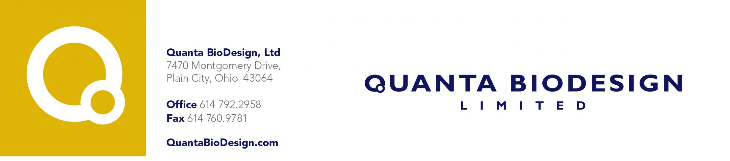 Quanta BioDesign, Ltd. Letterhead
